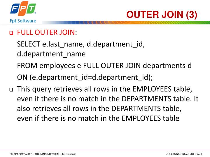 OUTER JOIN (3)