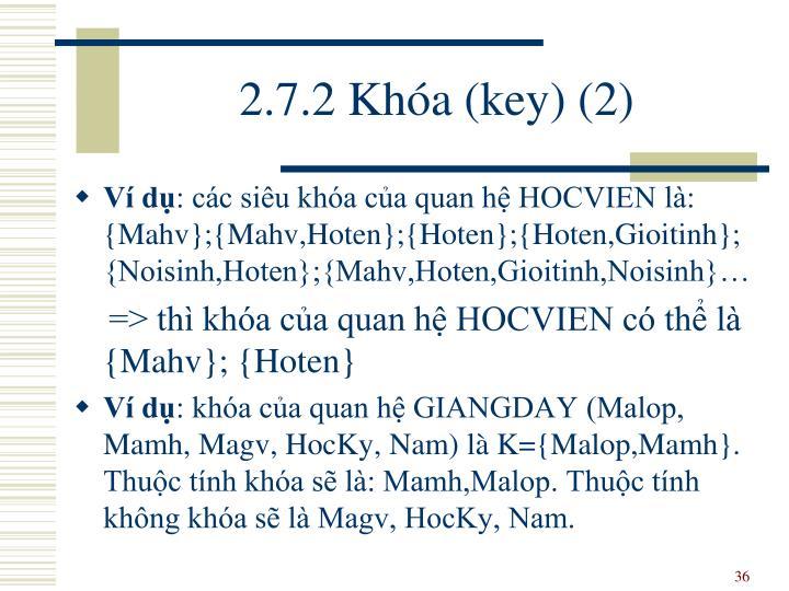 2.7.2 Khóa (key) (2)