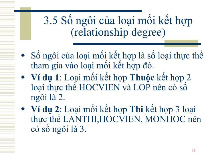 3.5 Số ngôi của loại mối kết hợp (relationship degree)