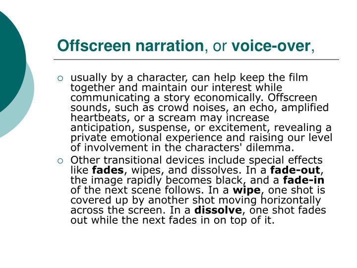 Offscreen narration