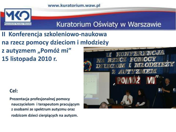 II  Konferencja szkoleniowo-naukowa
