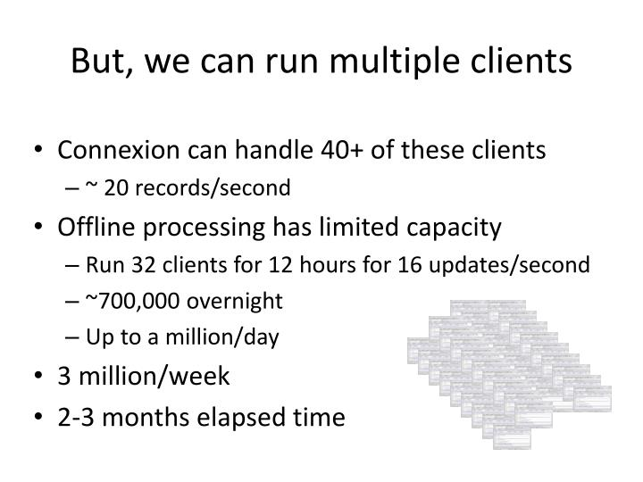 But, we can run multiple clients