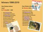 winners 1990 2010