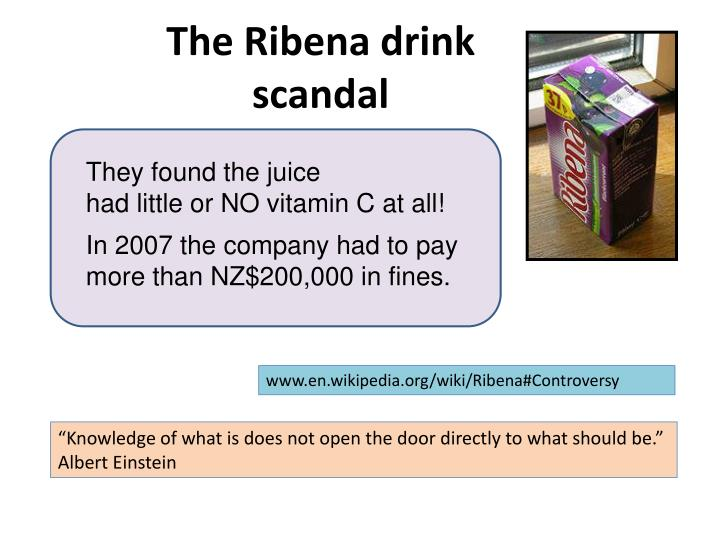 The Ribena drink