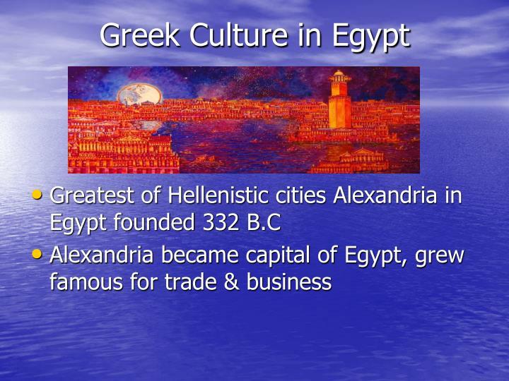 Greek Culture in Egypt