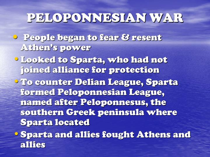 PELOPONNESIAN WAR
