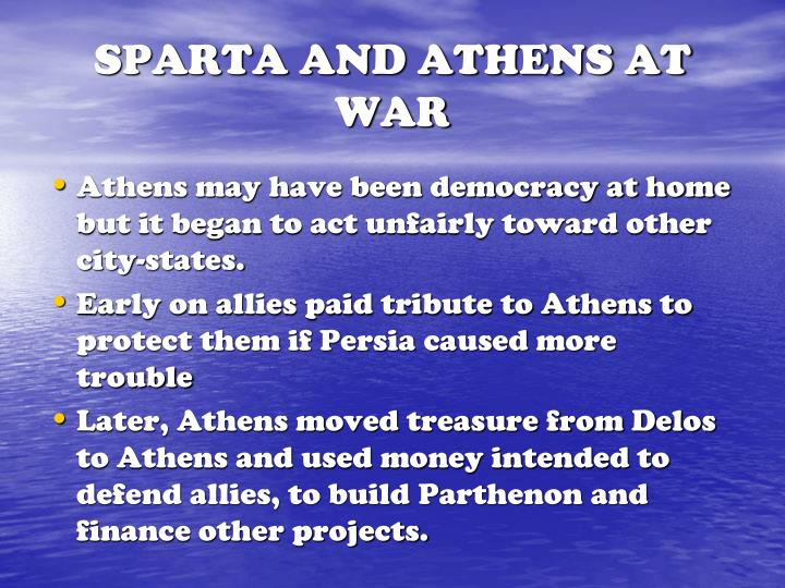 SPARTA AND ATHENS AT WAR