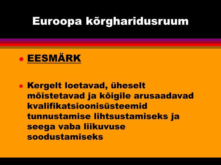 Euroopa kõrgharidusruum