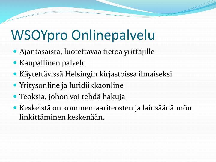 Wsoypro onlinepalvelu