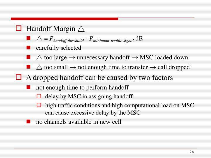 Handoff Margin △
