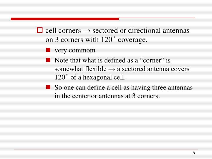 cell corners
