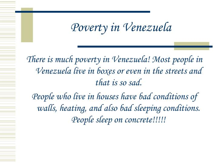Poverty in Venezuela