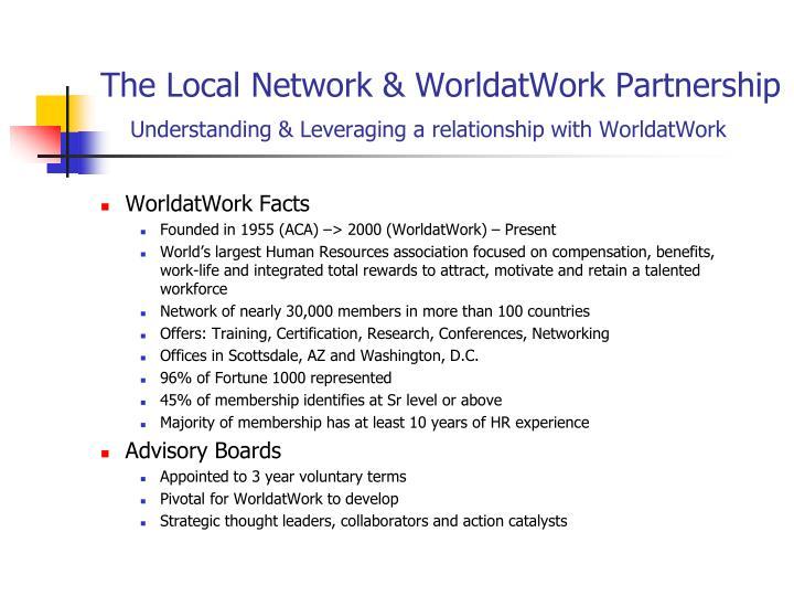 The local network worldatwork partnership understanding leveraging a relationship with worldatwork