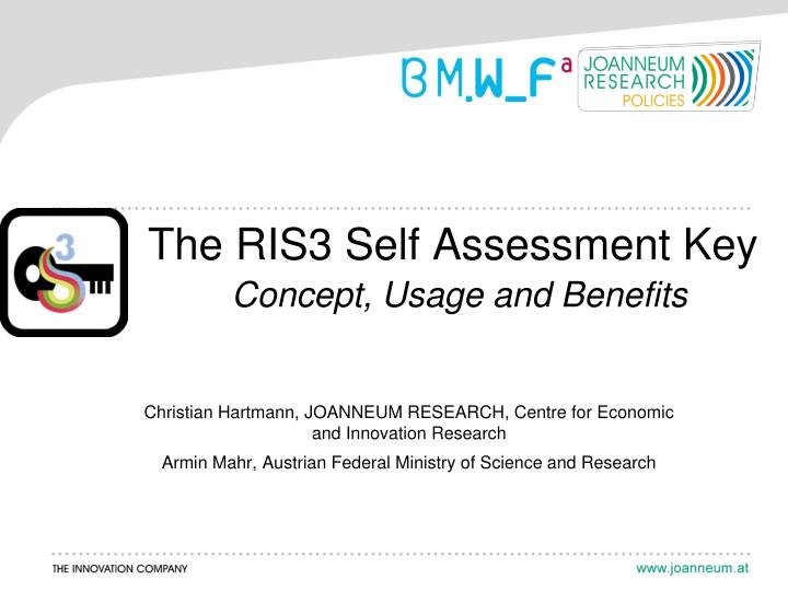 the ris3 self assessment key concept usage and benefits n.