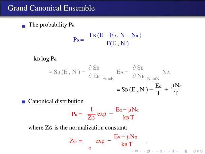 Grand Canonical Ensemble