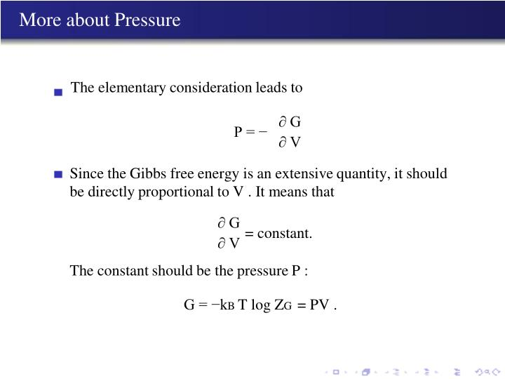 More about Pressure