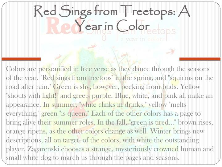 Red Sings from Treetops: A Year in Color