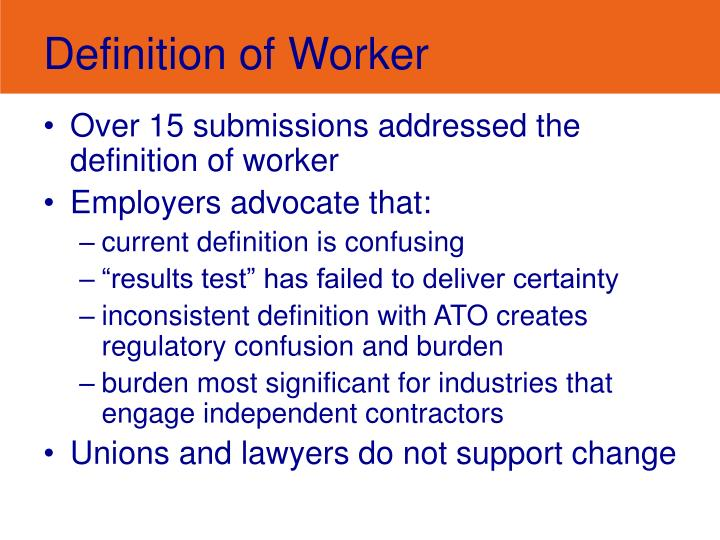 Definition of Worker