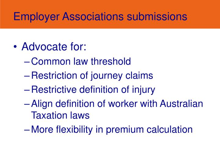 Employer Associations submissions