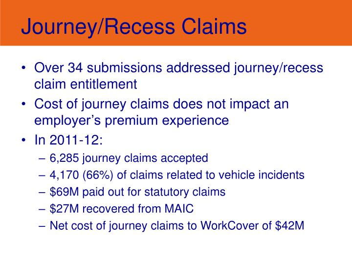 Journey/Recess Claims