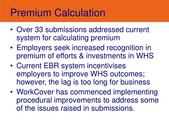 Premium Calculation