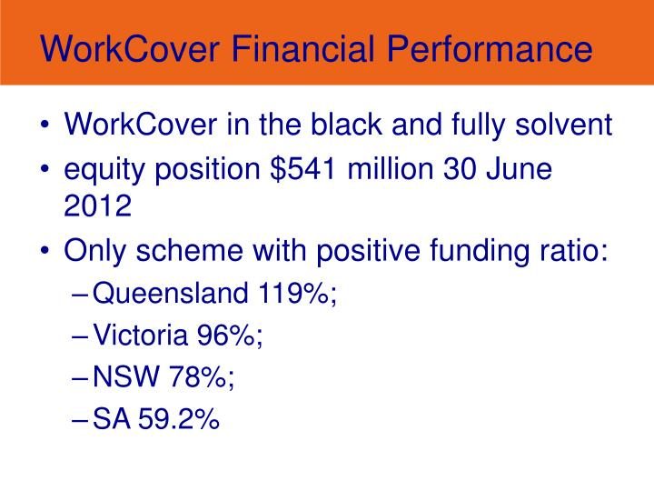 Workcover financial performance