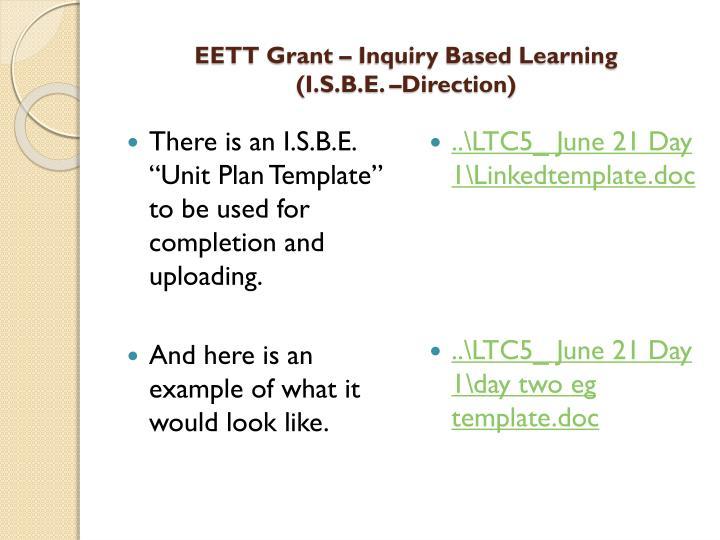 EETT Grant – Inquiry Based Learning