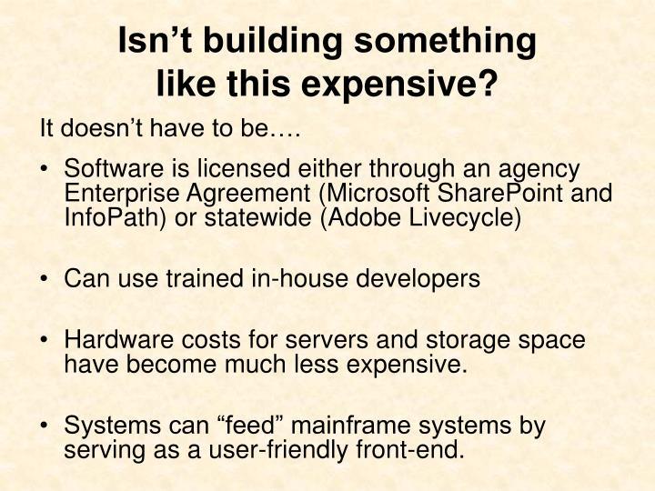 Isn't building something