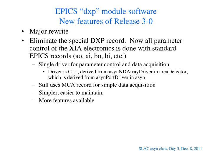 """EPICS """"dxp"""" module software"""