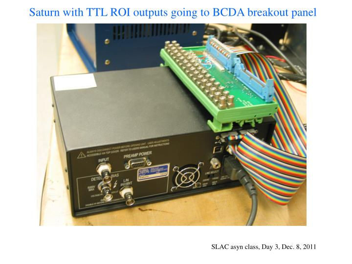 Saturn with TTL ROI outputs going to BCDA breakout panel
