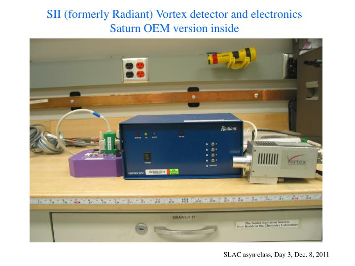 SII (formerly Radiant) Vortex detector and electronics