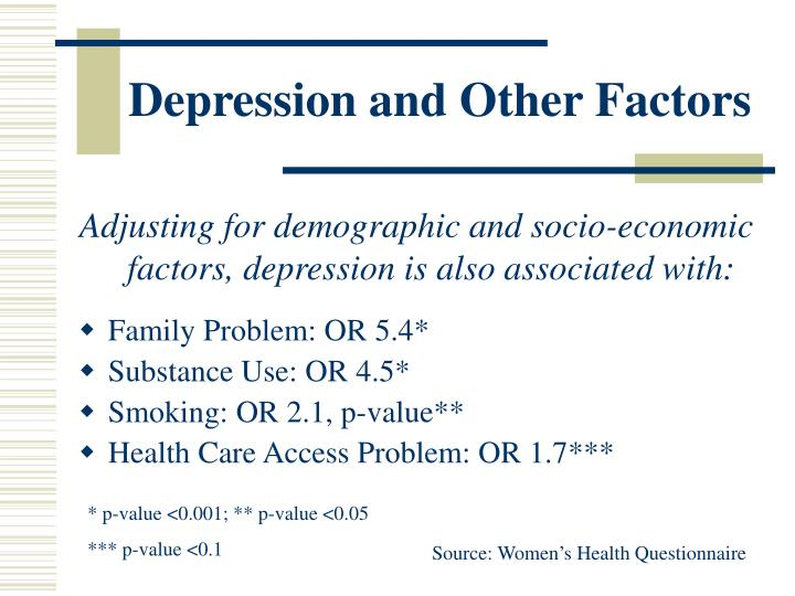 Depression and Other Factors