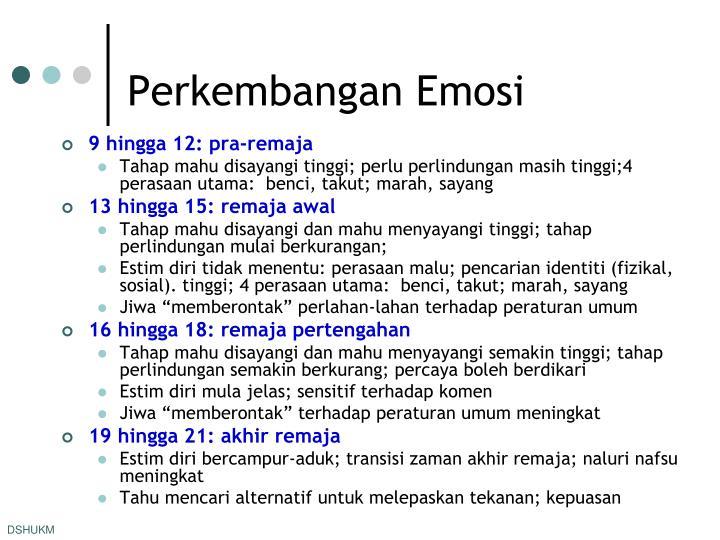 Perkembangan Emosi
