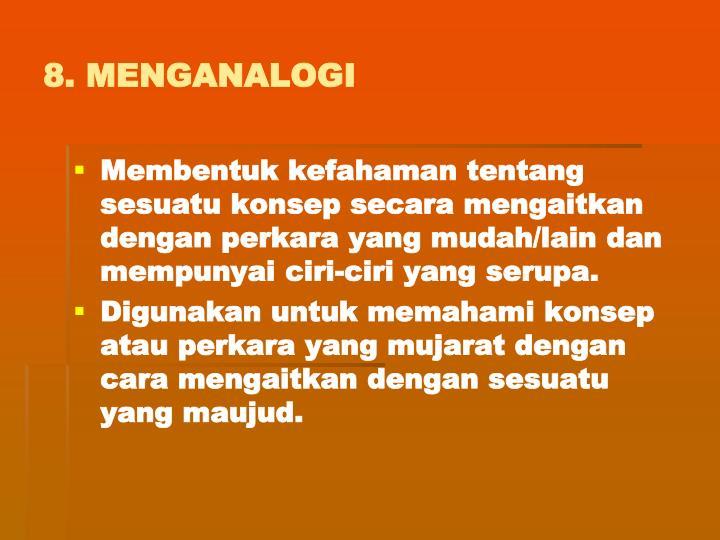 8. MENGANALOGI