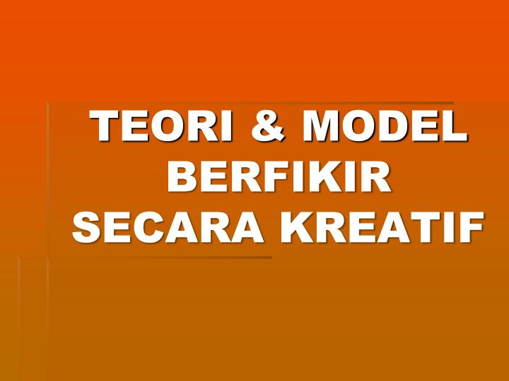 TEORI & MODEL