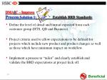 dma i c improve process solution 1 establish brd standards