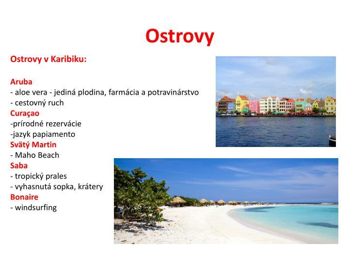 Ostrovy v Karibiku: