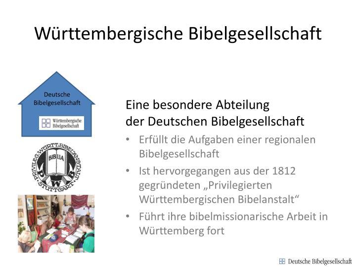Württembergische Bibelgesellschaft
