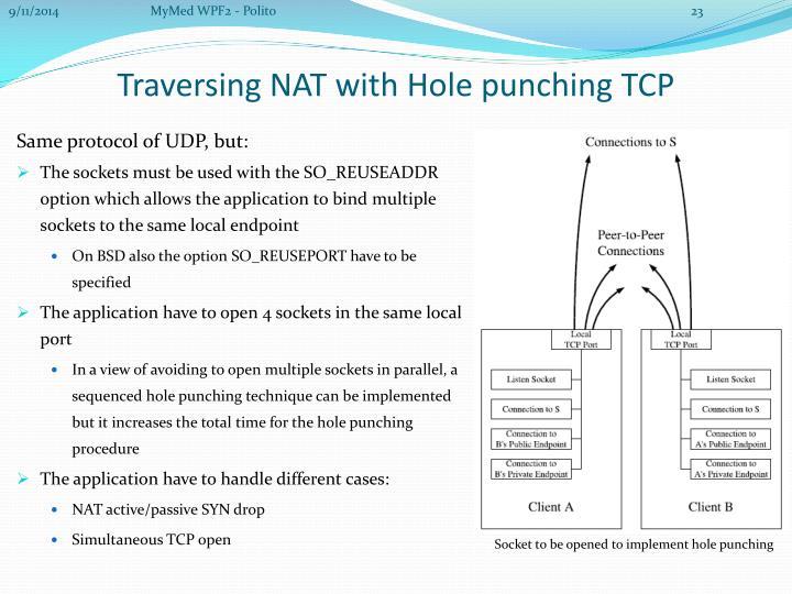 Same protocol of UDP, but: