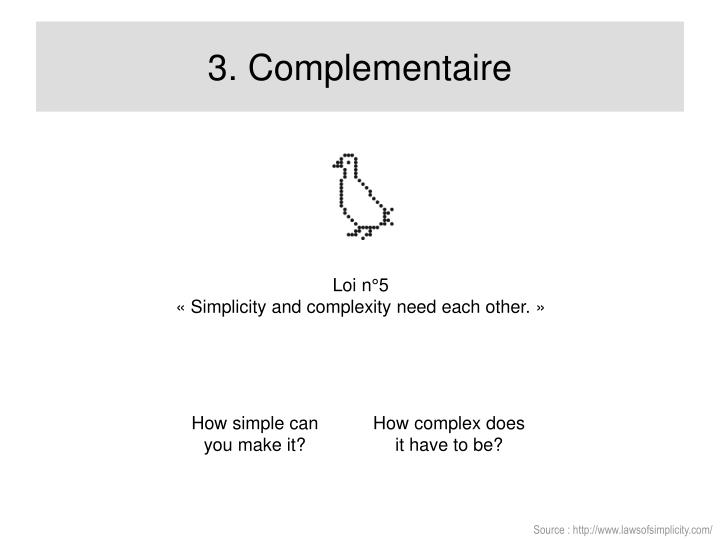 3. Complementaire