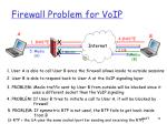 firewall problem for voip
