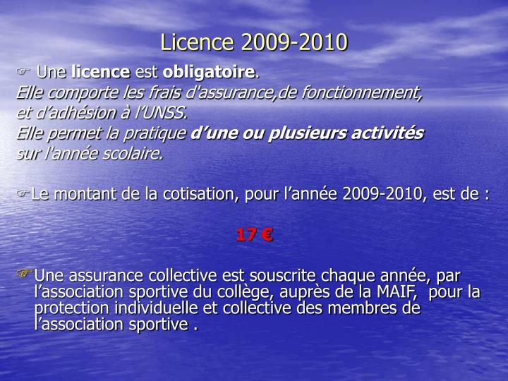 Licence 2009-2010