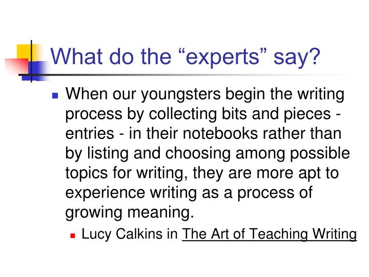 "What do the ""experts"" say?"