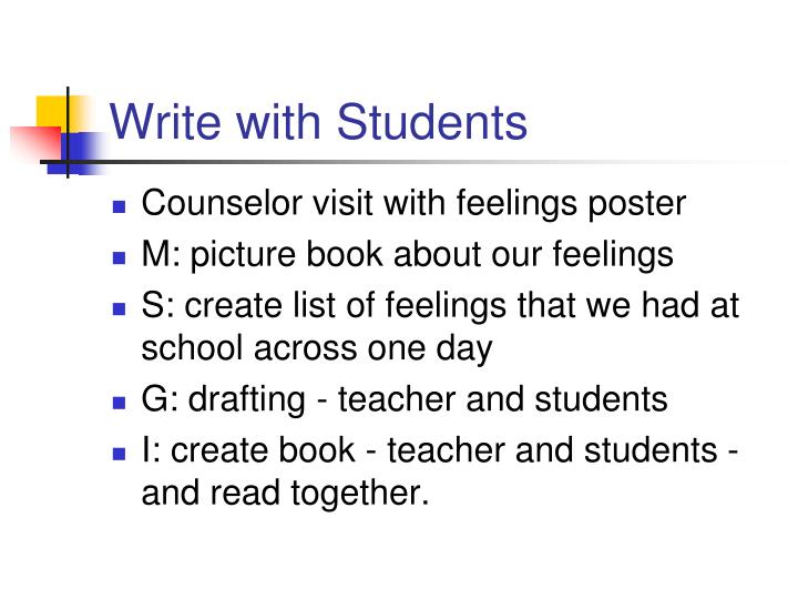 Write with Students