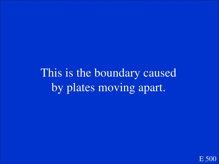 This is the boundary caused by plates moving apart.