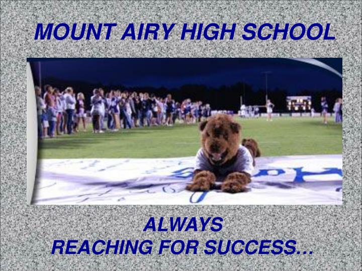 MOUNT AIRY HIGH SCHOOL