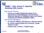 arwp sub group 3 capacity building hr issues