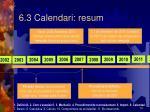 6 3 calendari resum
