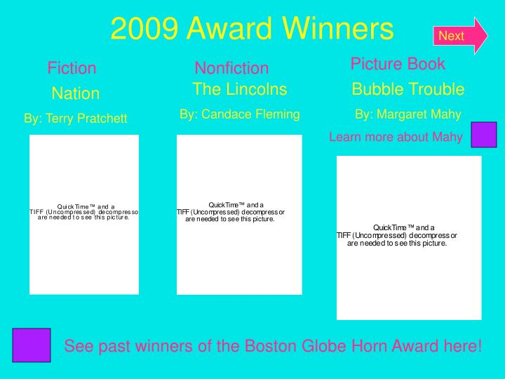 2009 award winners