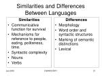 similarities and differences between languages